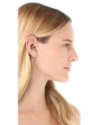 Juicy Couture - Metallic Spike Linear Earrings - Lyst