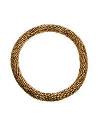 Kasturjewels | Metallic Choker Collar Necklace | Lyst