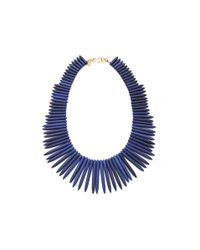 Kenneth Jay Lane | Blue Gold-tone Lapis Necklace | Lyst