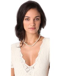 Kenneth Jay Lane - Metallic Imitation Pearl Necklace - Lyst