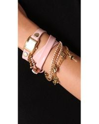 La Mer Collections - Pink Crystal Ballerina Charm Watch - Lyst