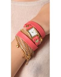 La Mer Collections - Pink Tokyo Crystal Wrap Watch - Lyst