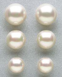 Majorica - White Tahitian Pearl Stud Earrings 12mm - Lyst