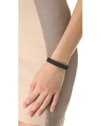 Marc By Marc Jacobs - Black Rubber Standard Supply Bracelet - Lyst