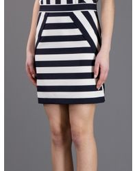 Marc By Marc Jacobs | White Striped Skirt | Lyst