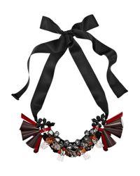 Marni - Black Beaded Crystal Necklace - Lyst