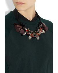 Marni - Black Beaded Crystal Necklace - Lyst