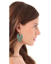 Miguel Ases | Blue Drop Earrings | Lyst
