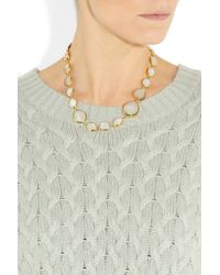 Monica Vinader - Metallic Nugget 18karat Goldvermeil Moonstone Necklace - Lyst