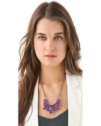 Pamela Love - Purple Medium Tribal Spike Necklace - Lyst