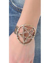 Pamela Love - Metallic Snake Pentagram Cuff - Lyst