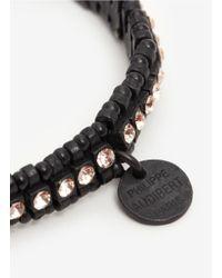 Philippe Audibert - Black 'broome' Elasticated Bracelet - Lyst