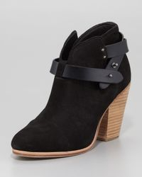 Rag & Bone | Harrow Nubuck Ankle Boot Black | Lyst