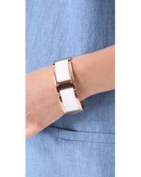 Rebecca Minkoff - Metallic Leather Metal Bracelet - Lyst