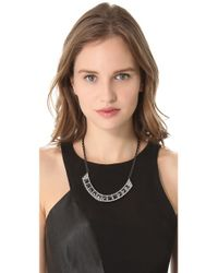 Rebecca Minkoff | Metallic Flipped Crystal Bib Necklace | Lyst