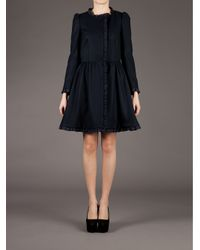 RED Valentino - Black Cinched Waist Coat - Lyst