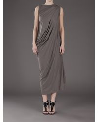 Rick Owens Lilies - Gray Maxi Dress - Lyst