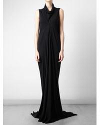 Rick Owens Lilies | Black Shirred Long Skirt | Lyst