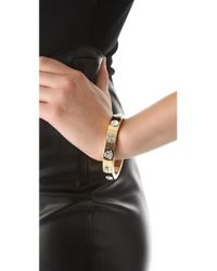 Robert Rodriguez - Metallic Crystal Studded Bangle - Lyst