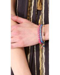 Shashi - Pink Sarah Yellow Nugget Bracelet - Lyst