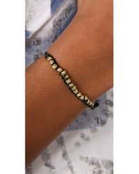 Shashi | Blue Single Petit Golden Nugget Adjustable Bracelet | Lyst