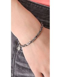 Shashi | Metallic Nugget Clasp Bracelet | Lyst