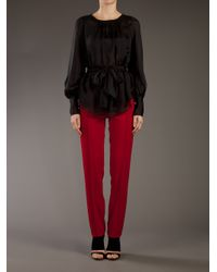 Sportmax - Red Casual Trouser - Lyst