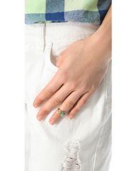Sunahara - Metallic Turquoise Eye Mid Knuckle Ring - Lyst