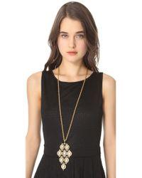Theodora & Callum - Metallic Long Andros Necklace - Lyst