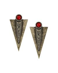 TOPSHOP - Metallic Arrow Stud Earrings - Lyst