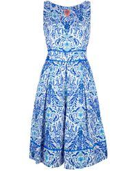 Tory Burch | Multicolor Floral Print Dress | Lyst