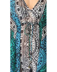 Tory Burch | Multicolor Tofino Long Caftan Cover Up | Lyst