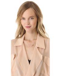 Tuleste - Pink Shamrock Necklace - Lyst