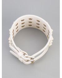 Valentino - White Rockstud Cuff - Lyst