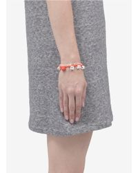 Venessa Arizaga - Orange 'love You' Woven Bracelet - Lyst