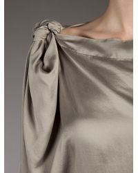 Vivienne Westwood Anglomania - Gray Silk Dress - Lyst