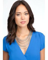 Bebe - Metallic Multi Strand Coil Necklace - Lyst