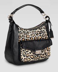 Cole Haan | Animal Zoe Leopardprint Calf Hair Hobo Bag | Lyst