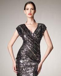 Donna Karan | Black Sequin Embellished Top | Lyst