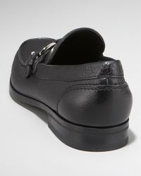 Ferragamo | Black Bravo Buckle Loafer for Men | Lyst