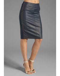 Halston Heritage | Blue One Shoulder Wrap Dress | Lyst