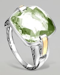John Hardy | Classic Chain Silver Green Amethyst Ring | Lyst