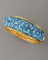 Jose & Maria Barrera | Pave Crystal Bracelet Blue | Lyst