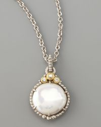 Judith Ripka | Metallic Pearl Pendant Necklace | Lyst