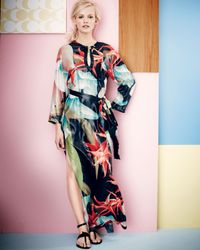 Lanvin | Blue Tropicalprint Caftan Maxi Dress | Lyst