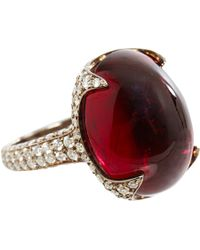 Sidney Garber - White Rubellite Diamond Ring - Lyst