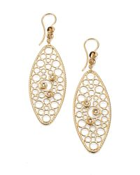 Roberto Coin | Metallic Bollicine Diamond & 18K Yellow Gold Oval Drop Earrings | Lyst