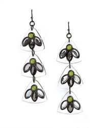 BaubleBar - Green Lucite Cactus Flower Drops - Lyst