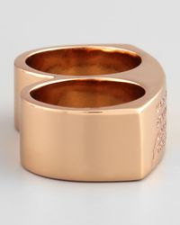 Marc By Marc Jacobs - Pink Standard Supply Double Ring - Lyst