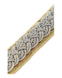 Maria Rudman - Metallic Embroidered Leather Bracelet - Lyst